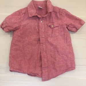Old Navy linen button down shirt